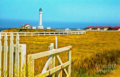Painting - Point Arena Lighthouse by Gregory Dyer