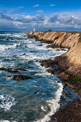 Mendocino California Coast Photograph - Point Arena Lighthouse by Kathleen Bishop