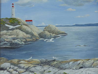 Painting - Point Atkinson Lighthouse by James Lawler