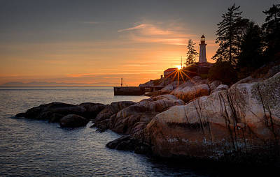 Vancouver Island Photograph - Point Atkinson Sunset by Alexis Birkill