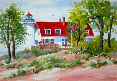 Painting - Point Betsie by Becky Taylor