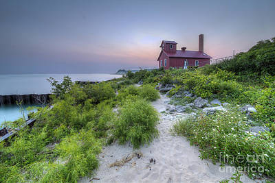 Point Betsie Life Saving Station Art Print by Twenty Two North Photography