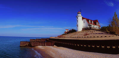 Photograph - Point Betsie Lighthouse, Frankfort by Panoramic Images
