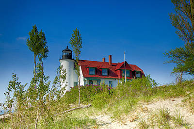 Photograph - Point Betsie Lighthouse by Jack R Perry