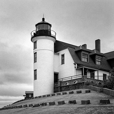 Photograph - Point Betsie Lighthouse by Jeff Burton