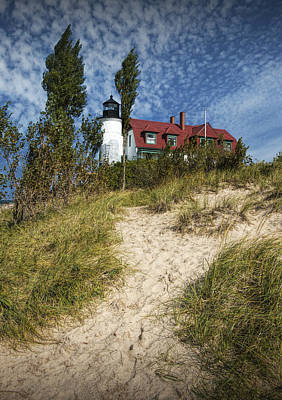 Photograph - Point Betsie Lighthouse On Lake Michigan by Randall Nyhof
