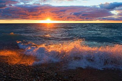 Point Betsie Sunset Art Print by Craig Sterken