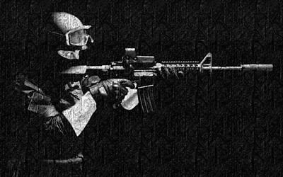 Battles Photograph - Point Blank Shot by VRL Art