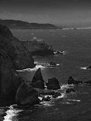 Pacific Digital Art - Point Bonita Light by Mike McGlothlen