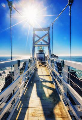 Sausalito Photograph - Point Bonita Lighthouse And Bridge - Marin Headlands by Jennifer Rondinelli Reilly - Fine Art Photography