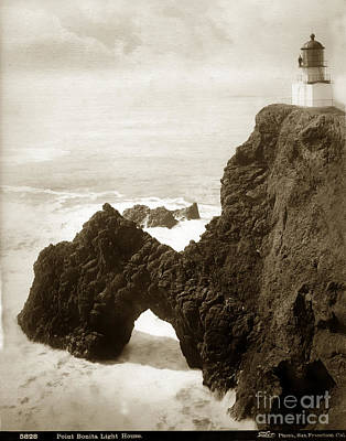 Photograph - Point Bonita Lighthouse I. W. Taber Photo Circa 1890 by California Views Mr Pat Hathaway Archives