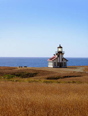 City Lights - Point Cabrillo Light House by Abram House