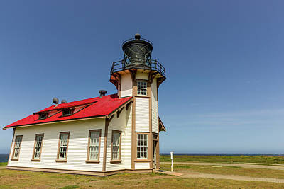Mendocino Photograph - Point Cabrillo Lighthouse by Chuck Haney
