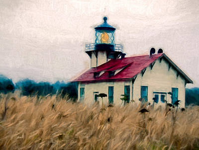 Point Cabrillo Lighthouse Art Print by John K Woodruff