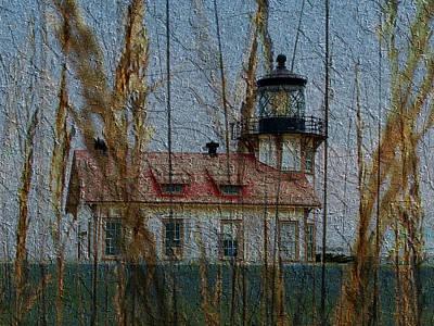Caspar Mixed Media - Point Cabrillo Lighthouse by Kiki Art