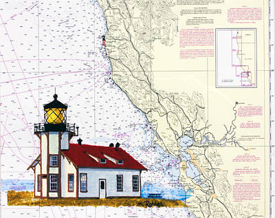 Painting - Point Cabrillo Light Station by Mike Robles