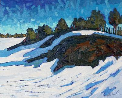 Juniper Painting - Point Chadwick by Phil Chadwick