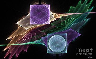 Counterpoint Digital Art - Point / Counterpoint by Elizabeth McTaggart