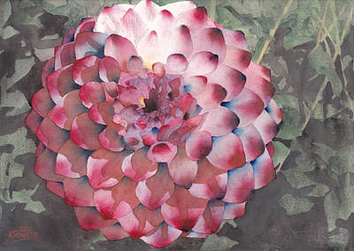 Painting - Point Defiance Dahlia by Ken Powers