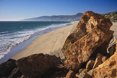 Beach Photograph - Point Dume Overlooking Zuma Beach by Adam Romanowicz