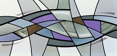 Glass Art - Point Grey Abstract by Gilroy Stained Glass