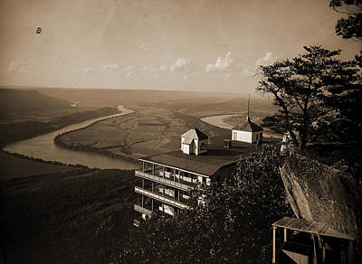 Lookout Mountain Drawing - Point Hotel And The Battlefield, Lookout Mountain, Jackson by Litz Collection