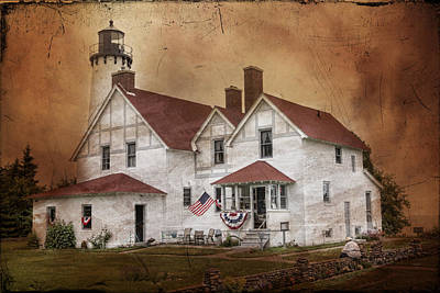 From The Kitchen - Point Iroquois Lighthouse Michigan by Evie Carrier