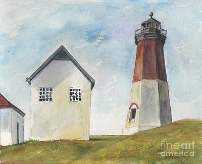 Painting - Point Judith Light by Susan Herbst