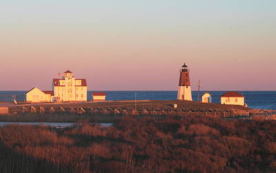 Photograph - Point Judith Lighthouse In Evening Light by John Burk