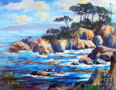 Painting - Point Lobos by Carolyn Jarvis
