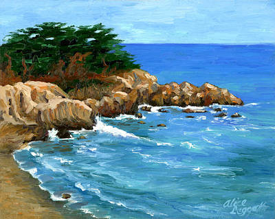 Painting - Point Lobos Coast by Alice Leggett