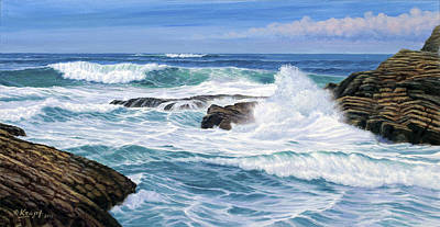 Surf Painting - Point Lobos by Paul Krapf