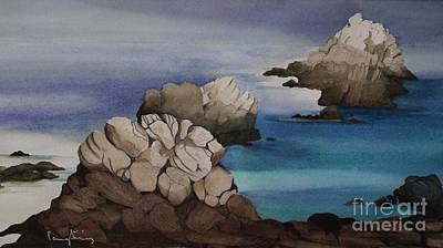 Painting - Point Lobos by Penny Stroening
