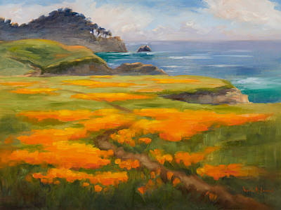 Point Lobos Poppies Original