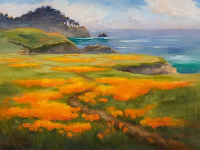Impressionism Photos - Point Lobos Poppies by Karin  Leonard