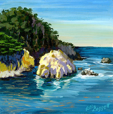 Painting - Point Lobos Rock by Alice Leggett