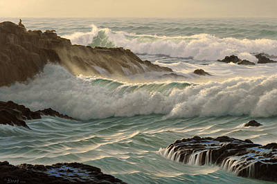 Surf Painting - Point Lobos Seascape    by Paul Krapf