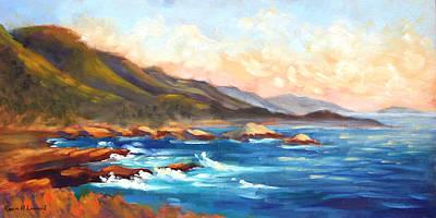 Point Lobos Sunset Original by Karin  Leonard