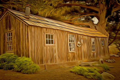 Historic Site Painting - Point Lobos Whalers Cabin by Barbara Snyder