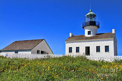 Photograph - Point Loma Lighthouse By Diana Sainz by Diana Raquel Sainz