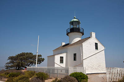 Point Loma Lighthouse Art Print by Russell Christie