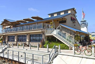 Point Loma Seafoods And Cafe California. Print by Gino Rigucci