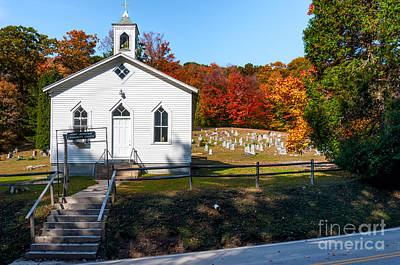 Point Mountain Community Church - Wv Art Print by Kathleen K Parker