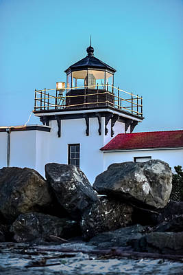 Photograph - Point No Point Lighthouse - January by Ronda Broatch