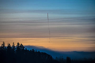 Photograph - Point No Point - Sky Trails by Ronda Broatch