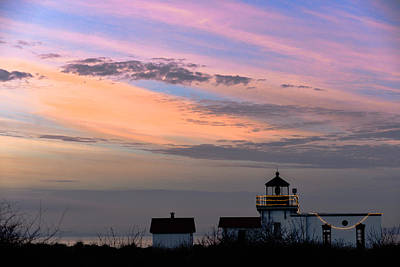 Photograph - Point No Point Sunset On A Day In January - Lighthouse by Ronda Broatch