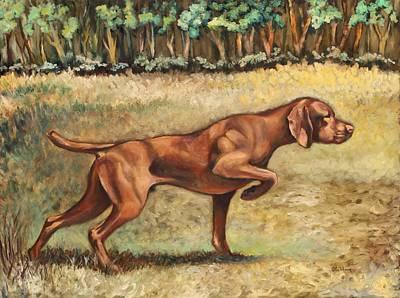 Vizsla Painting - Point Of Interest by Eve  Wheeler