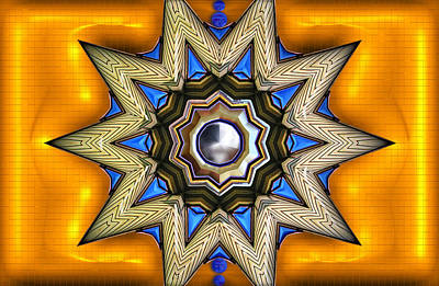 Point Of View - Gold Art Print by Wendy J St Christopher