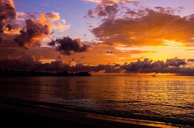Jamaican Sunset Photograph - Point Paradise by Todd Reese