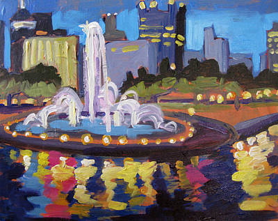 Pittsburgh Painting - Point Park Fountain by Tara Zalewsky